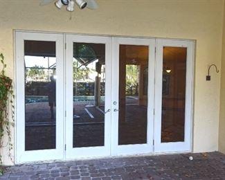 CGI Hurricane impact french doors