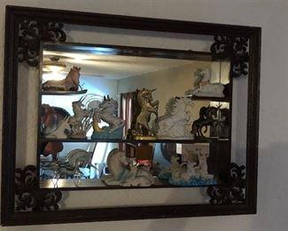 Vintage 3 d mirror Knick knack shelf $50