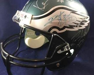 Eagles Autograph Football Helmet