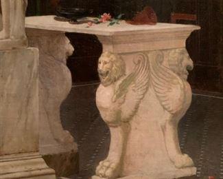 Ancient Rome, Oil on Canvas, Luigi Bazzoni (1836-1927)