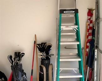 Ladder's and golf clubs