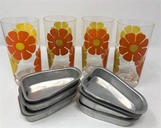 """Vintage COLONY """"Moon Flower"""" Glassware and ICE TREAT, INC Popsicle Trays https://ctbids.com/#!/description/share/314235"""