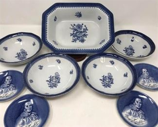 """WEDGWOOD - Georgetown Collection """"Springfield"""" and LIBERTY BLUE - Enoch Wedgwood Ben Franklin https://ctbids.com/#!/description/share/314238"""