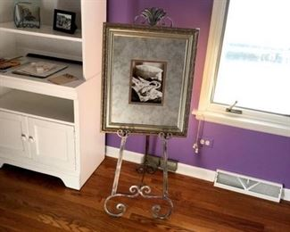 Easel and framed photo