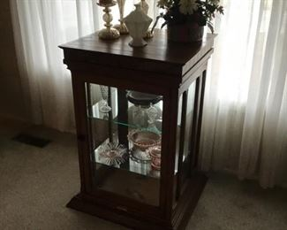 Antique oak store cabinet