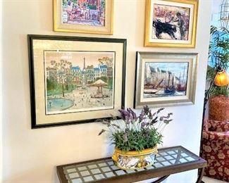 Many Original pieces of signed Wall Art.