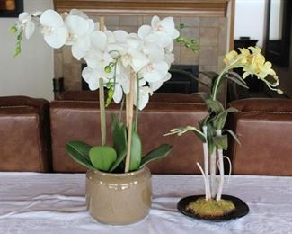 Faux Orchid Plants