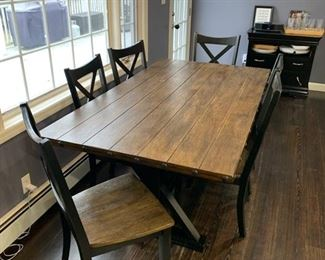 Farmhouse style contemporary kitchen table & chairs