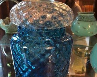 Art glass jar with lid