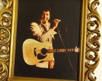 ... ELVIS, framed in appropriate fashion, for the king