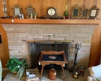 Old Clocks, Brass Picture Frames, Primitives