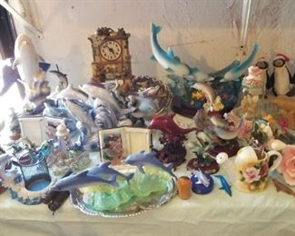 Dolphin collection and figurines