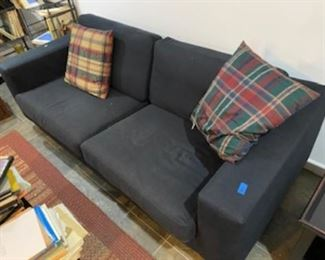 solid Charcoal Grey couch ~ Very Clean!