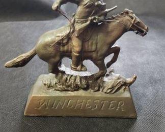 Winchester Bronze Sculpture. https://ctbids.com/#!/description/share/314504