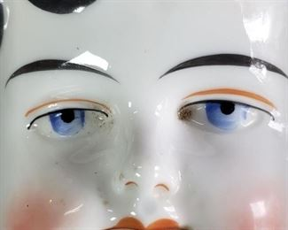 """Mark Farmer China Porcelain Shoulder Head Measurements approximately: 8"""" in circumference and 4 1/2"""" high and 2 1/2"""" wide in shoulders. Quantity: 3. https://ctbids.com/?site=1#!/description/share/314400"""