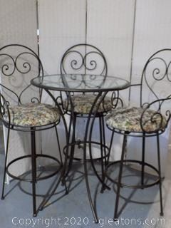 Bistro Style Pub Table Set  (3 sets available)