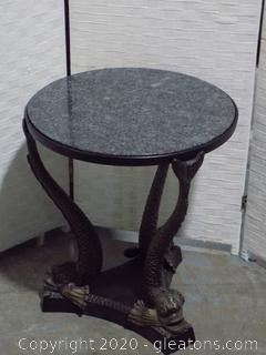 Koi Accent Table Marble Top