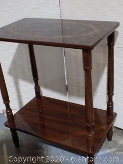 Mahogany Accent Table with Inlay (set of 3)
