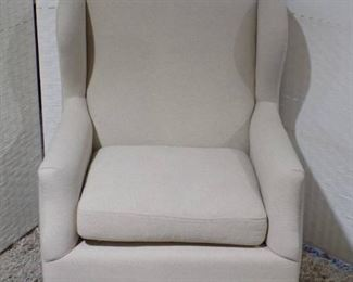 Off White Modern Wing Chair