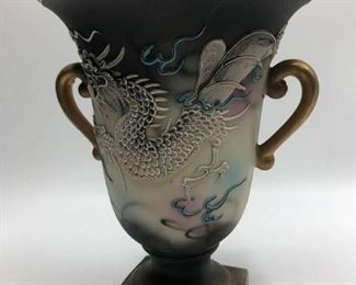 Hand Painted Dragon Vase