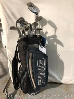 Ping Golf Clubs with Bag