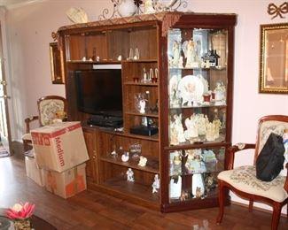 Great  entertainment center/curio cabinet