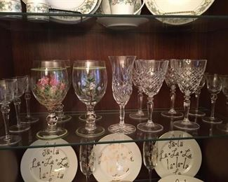 Assorted Crystal and Glass stemware