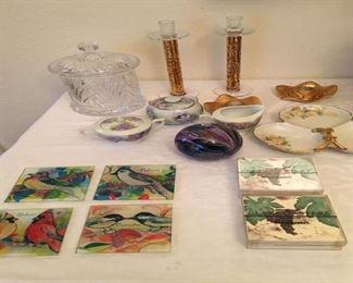 Biscuit (spoon) jar/candlesticks/ coasters