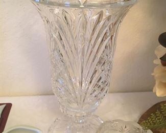 2 - Lead crystal 2 piece candle holders.