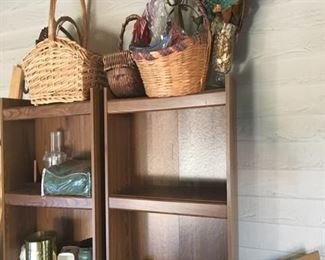 Bookcases and baskets