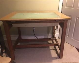 Vintage Light table that works and was used to view drawings. Old school.