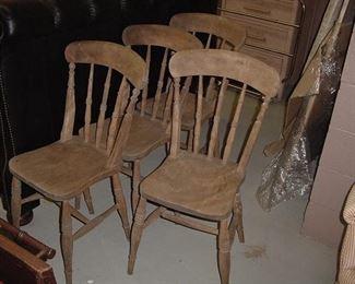set of 4 Scottish pub chairs