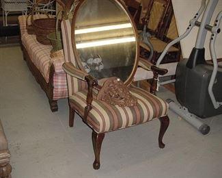 armchair with Ralph Lauren fabric