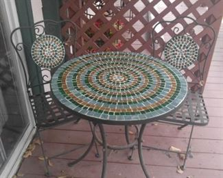 Mosaic Bistro Table Set