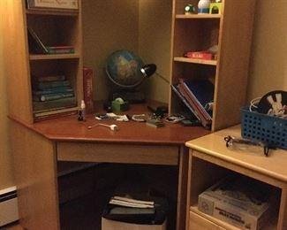 Child's desk and file cabinet