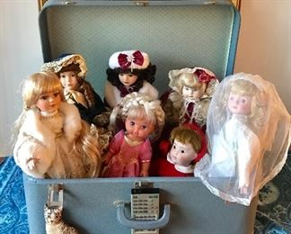 Vintage and antique dolls with handmade outfits