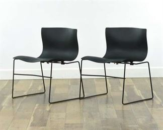 Pair Knoll Massimo Vignelli Handkerchief Stack Chairs