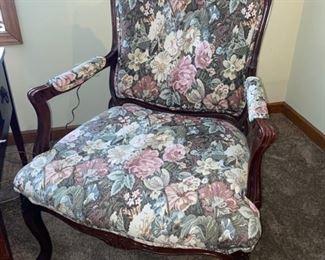 Vintage flower chair