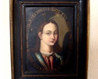 Antique Painting, 1700's, Oil on Copper, Hendrick De Clerck, Christ The Savior, Religious, Virgin, Florentine School