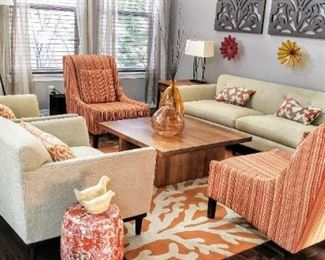 Room & Board Living Set Couch & Chairs