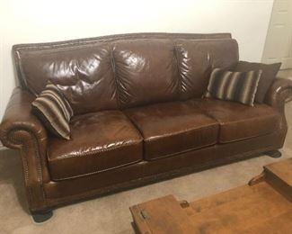 all leather  fabulous sofa -