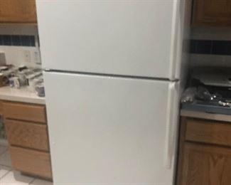 clean working 2 door white fridge