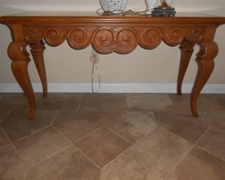 Solid wood entry/sofa table