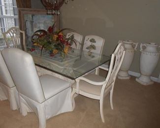This is a stunning dining room table and chairs