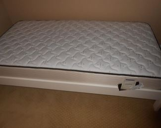 Twin mattress + wood frame