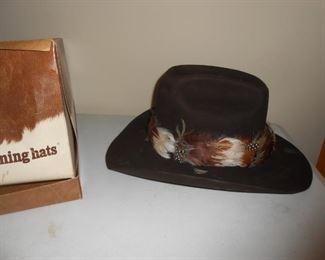 Gentleman's leather hat