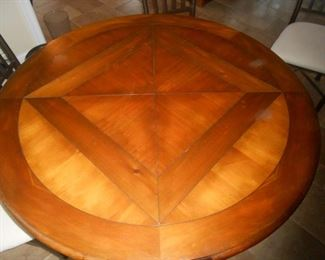 Inlaid wood kitchen tabletop