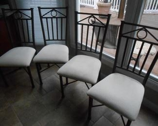 Metal back chairs