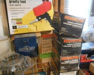 Central pneumatic blast gun and supplies