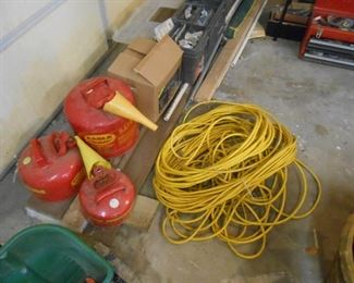 60' cord - gas cans